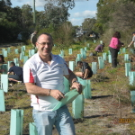 Austin Ietto planted trees to rehabilitate degraded margin of Wardandi Flora Reserve